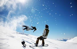 Winter Snowboarding