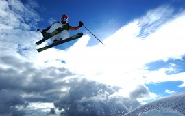 Winter Sports Clouds Sky Ski