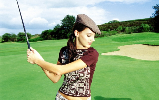 Woman Playing Golf (click to view)