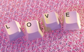 Word Love From Keyboard Key