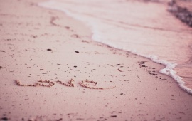 Write Word Love On The Beach