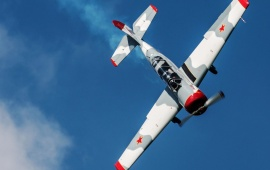 Yak-52 Training Plane Sky