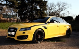 Yellow ABT Audi A4