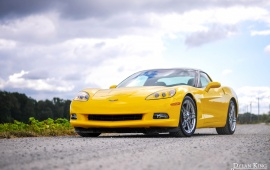 Yellow Chevrolet C6 Corvette
