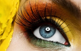 Yellow Eye Make Up