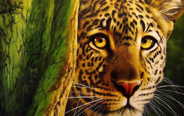 Yellow Eyes Leopard (click to view)