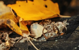 Yellow Fall Wedding Ring