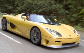 Yellow Koenigsegg