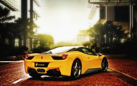 Yellow Supercar Ferrari 458 Italia