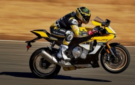 Yellow Yamaha YZF-R1 2016