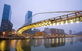 Zubizuri Bridge Spain Bilbao