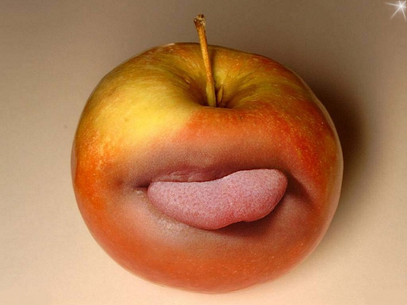 A funny apple