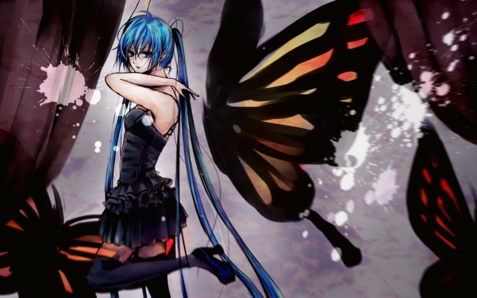 Anime Girl Butterfly Wings