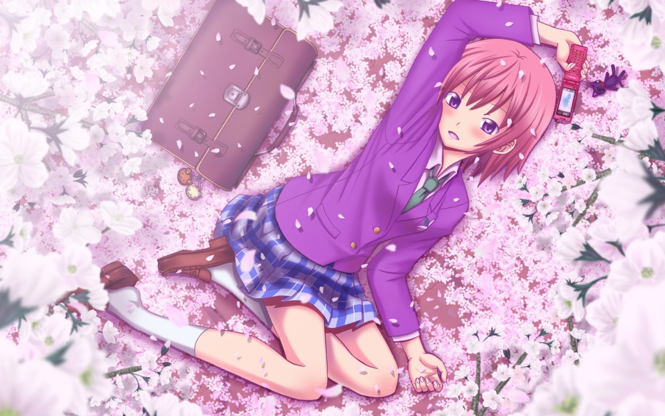 Anime Girl Enjoy Spring