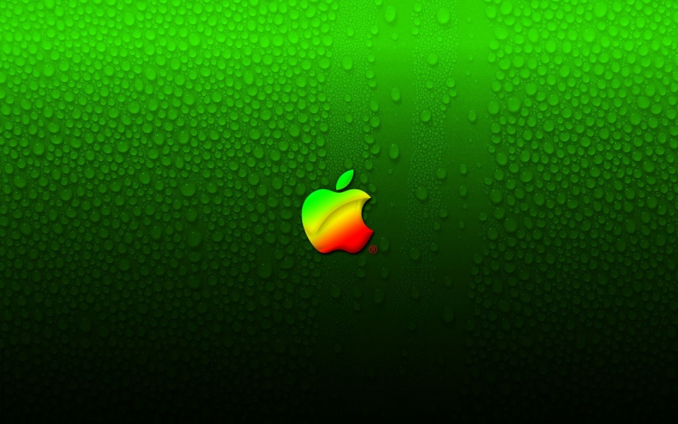 Apple And Water Drops