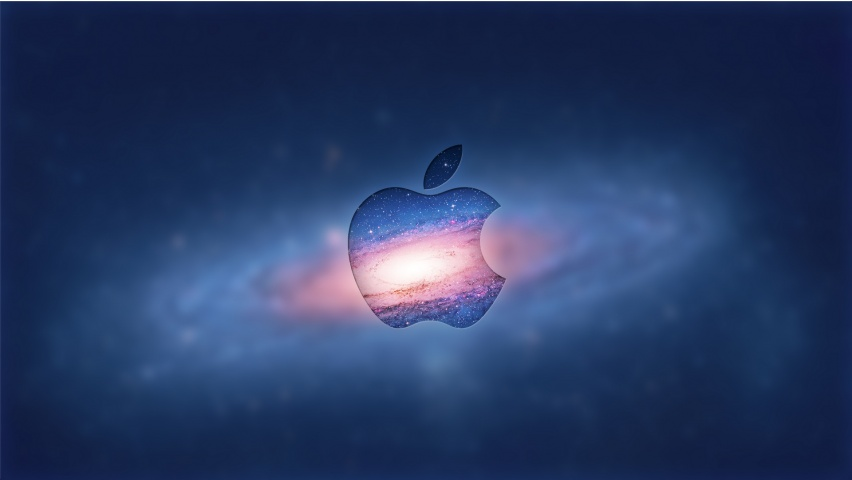 Apple Logo In Galaxy