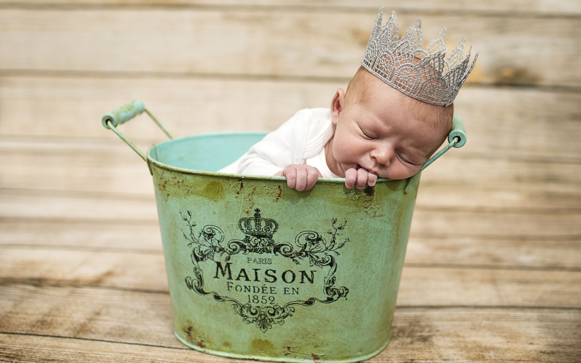 Human baby crowning