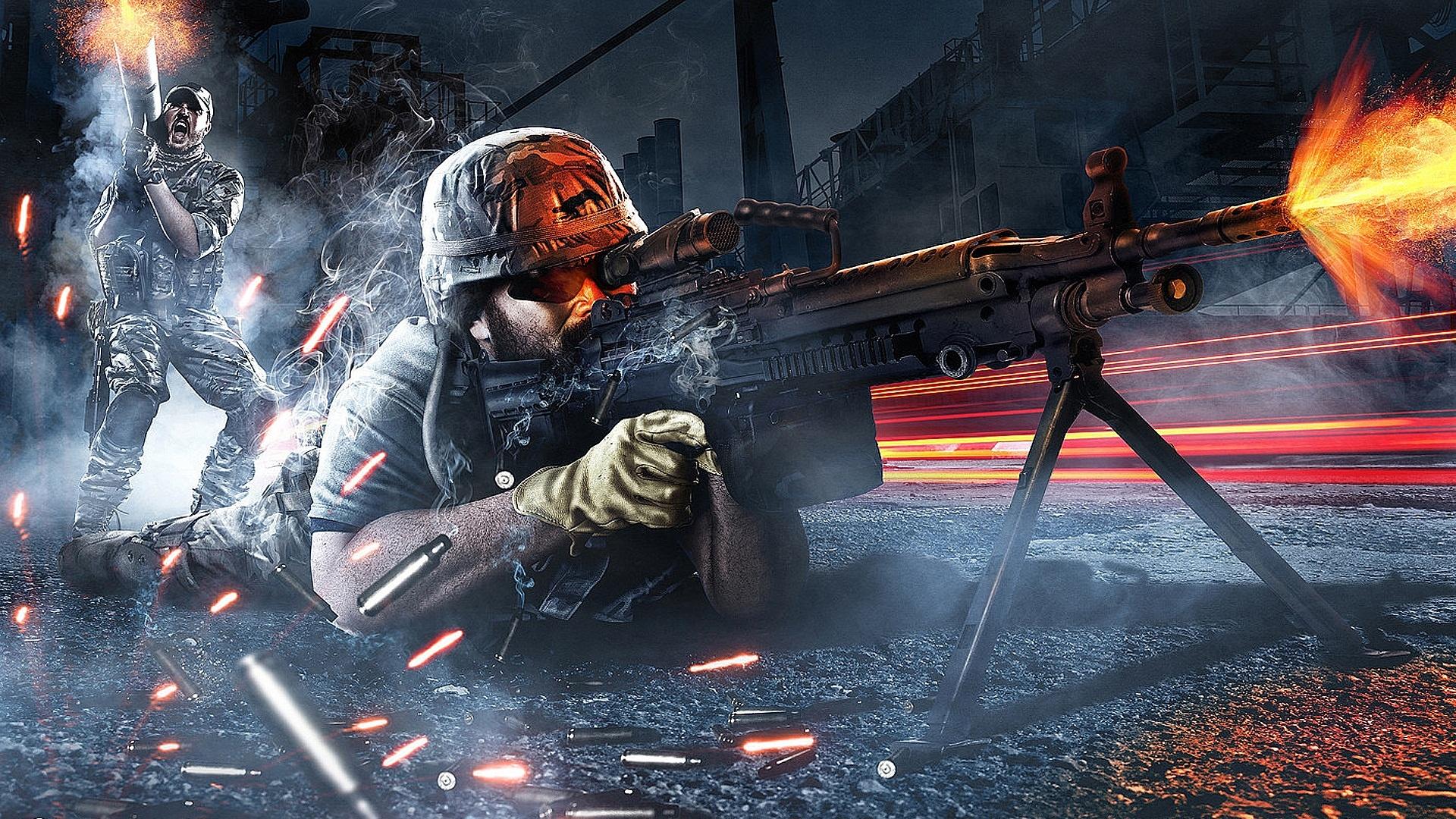 Cool Battlefield 4 Fire Armor In Black Background: Battlefield 3 Armored Kill Wallpapers