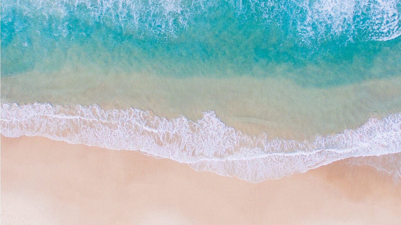 Beach and Sea Water Seen From Above