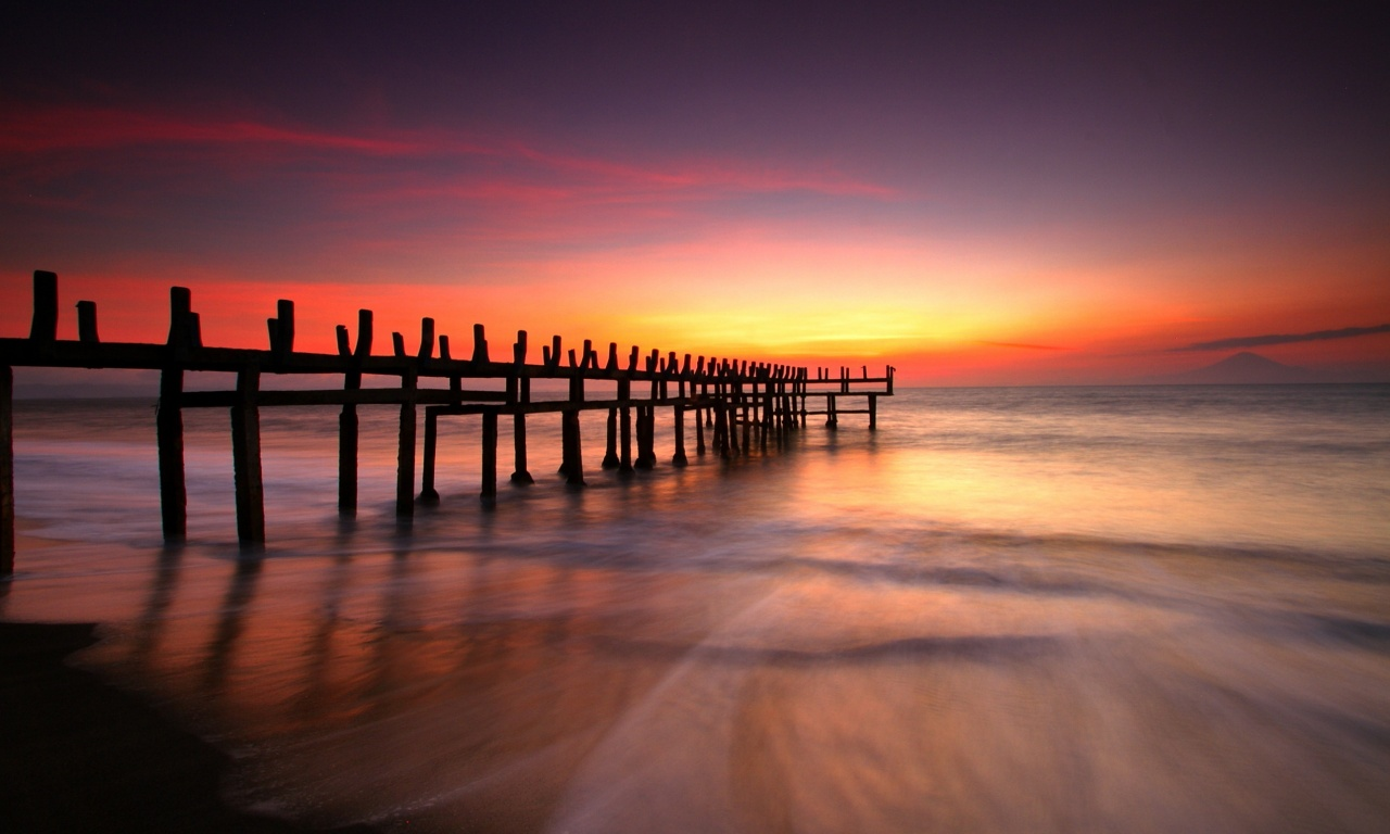 Beautiful Beach Dawn Sky