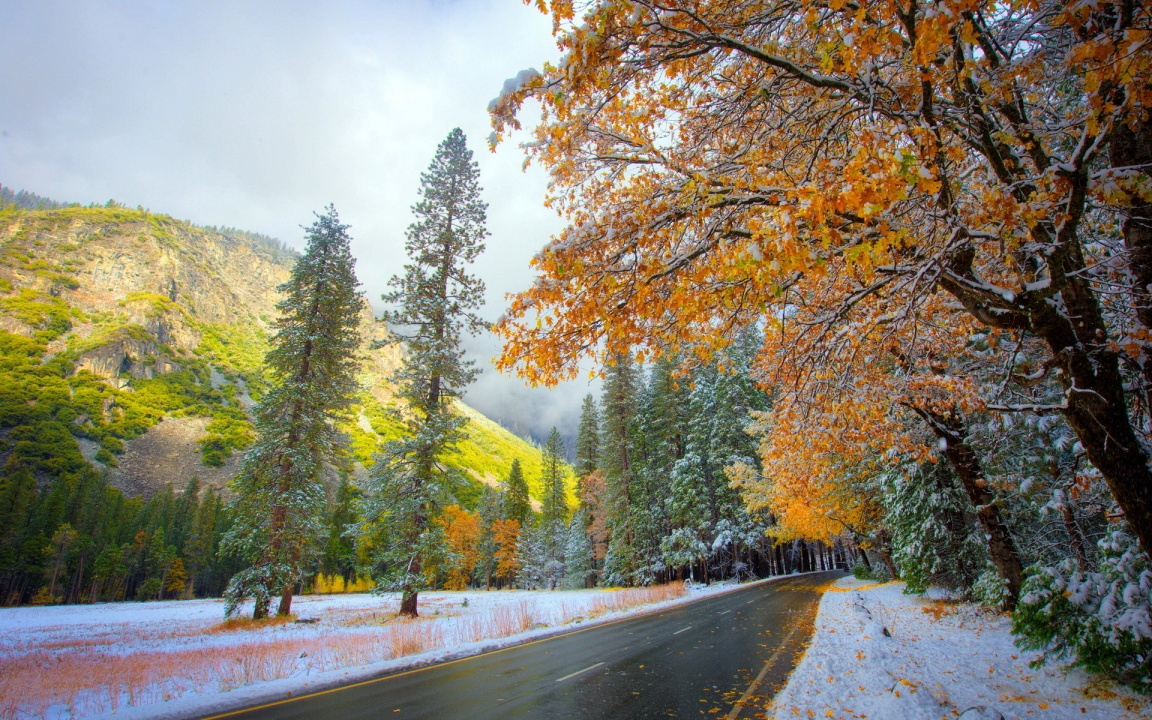 Beautiful Mountains Autumn Road
