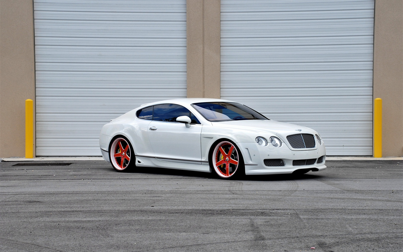 Bentley Continental GT White Car