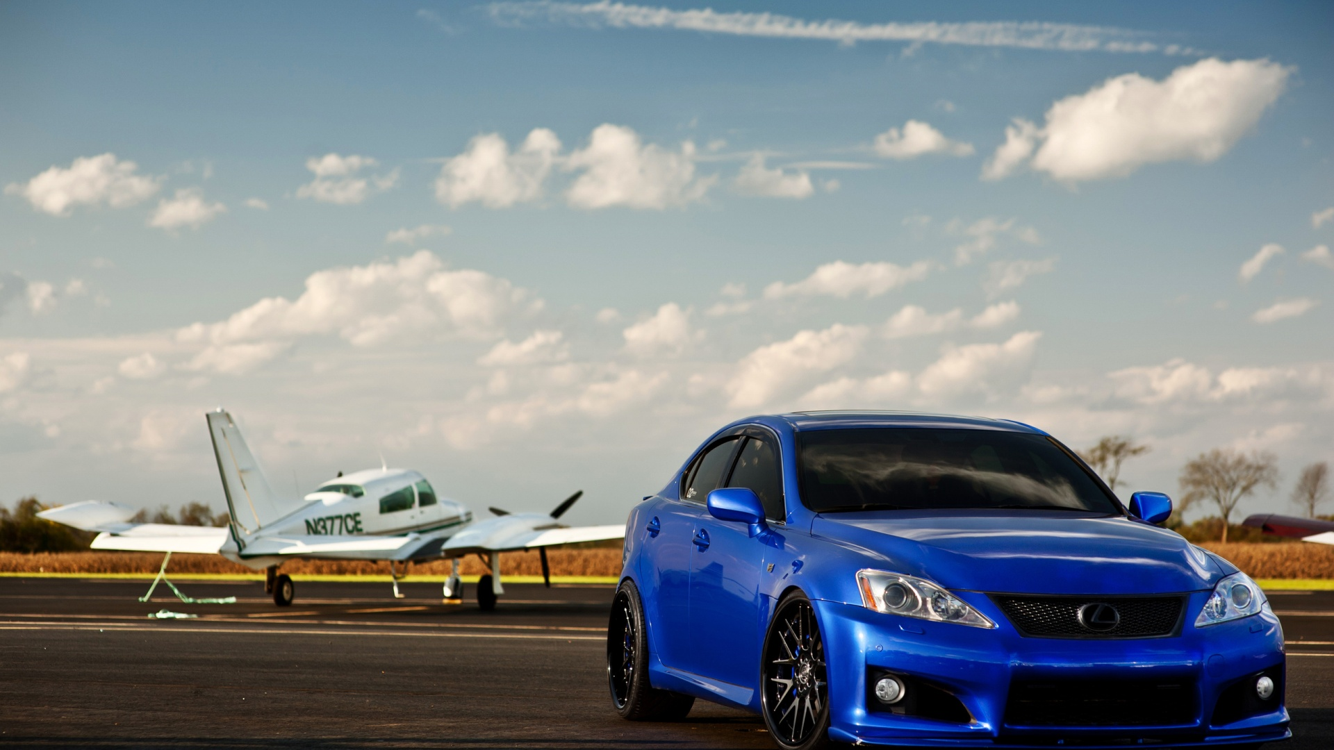 Blue Lexus IS-F