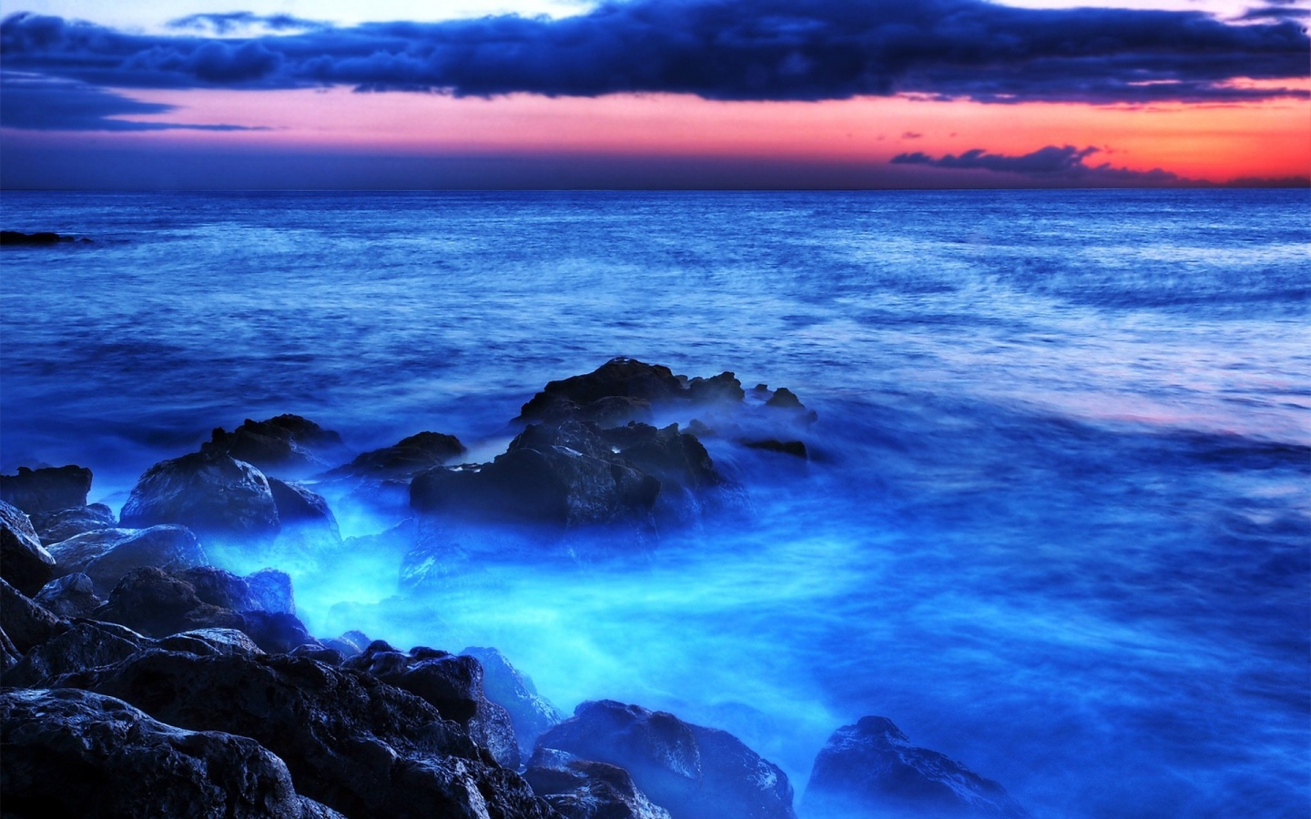 Blue Sea Water Light