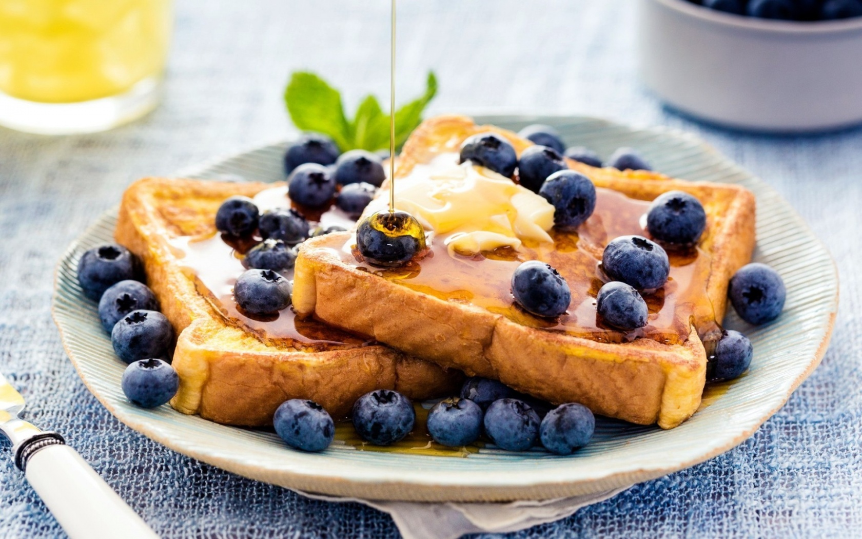 Blueberries Toast Honey