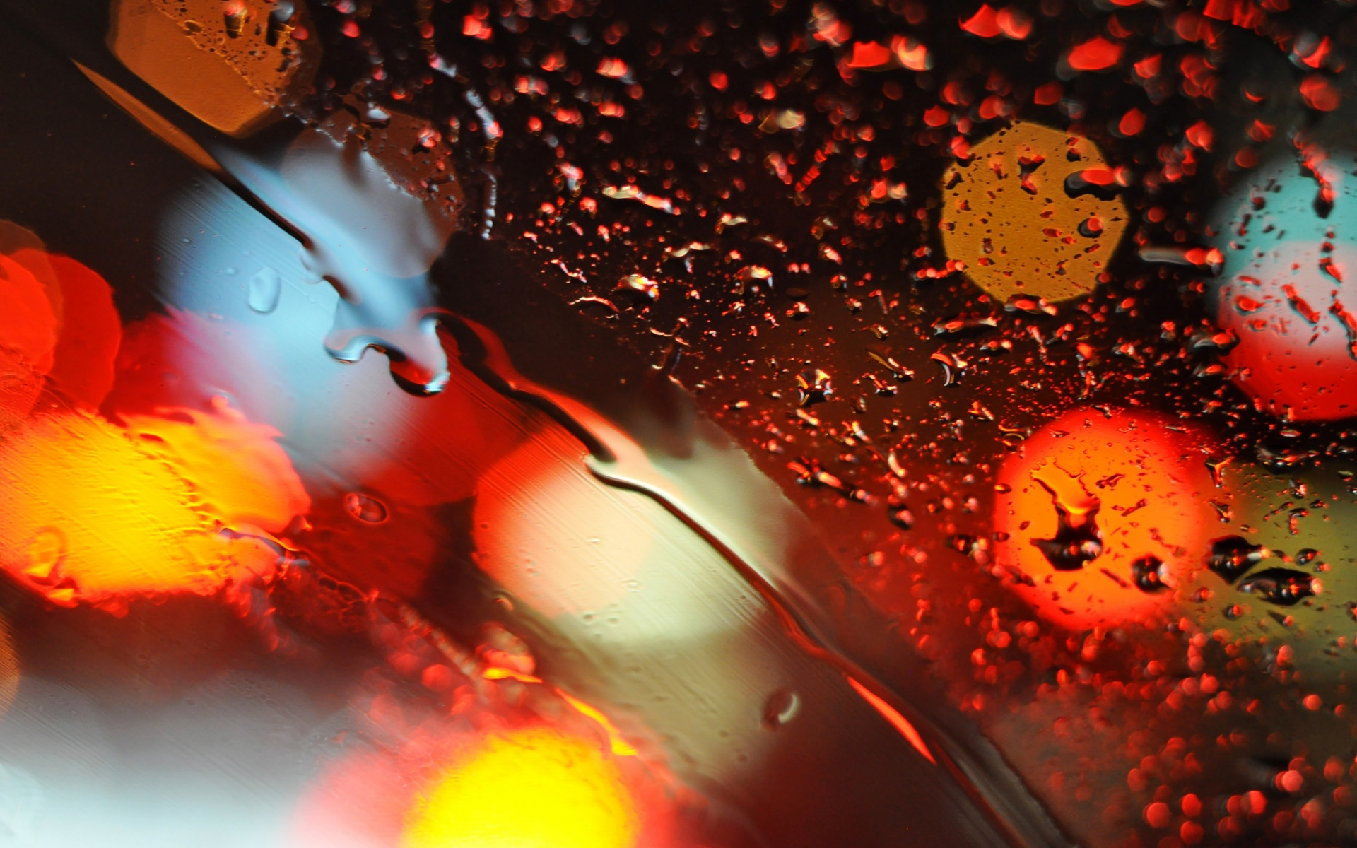Bokeh Lights Glass