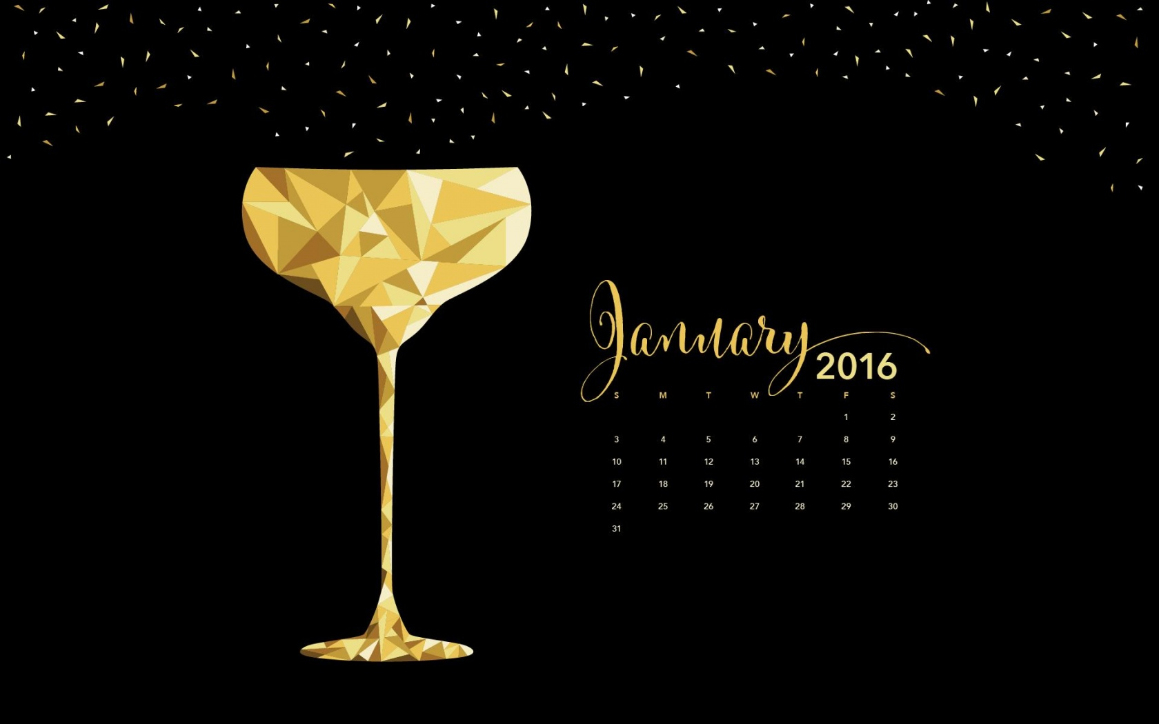 Champagne Glass January 2016