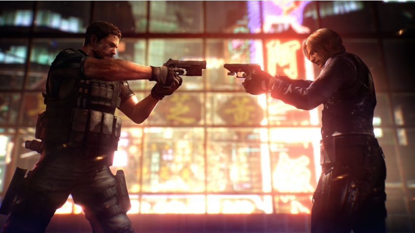 Chris Vs Leon Resident Evil 6