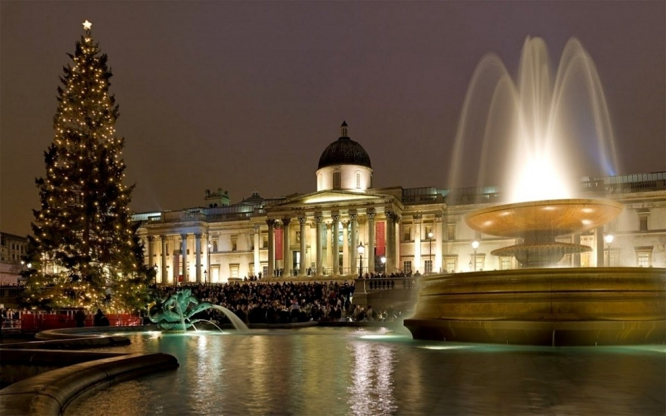 Christmas At Trafalgar Square ,London
