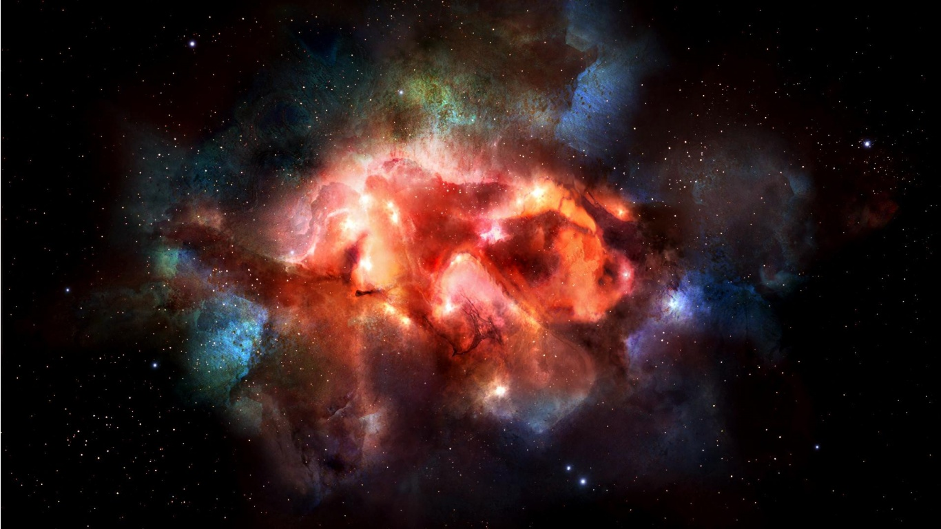 colorful nebula iphone wallpaper - photo #23