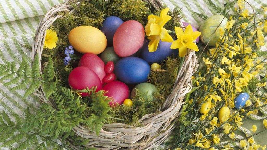Colorful Nature Easter Basket