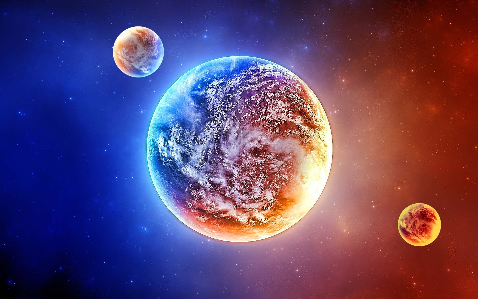 3d wallpaper colorful planets - photo #10