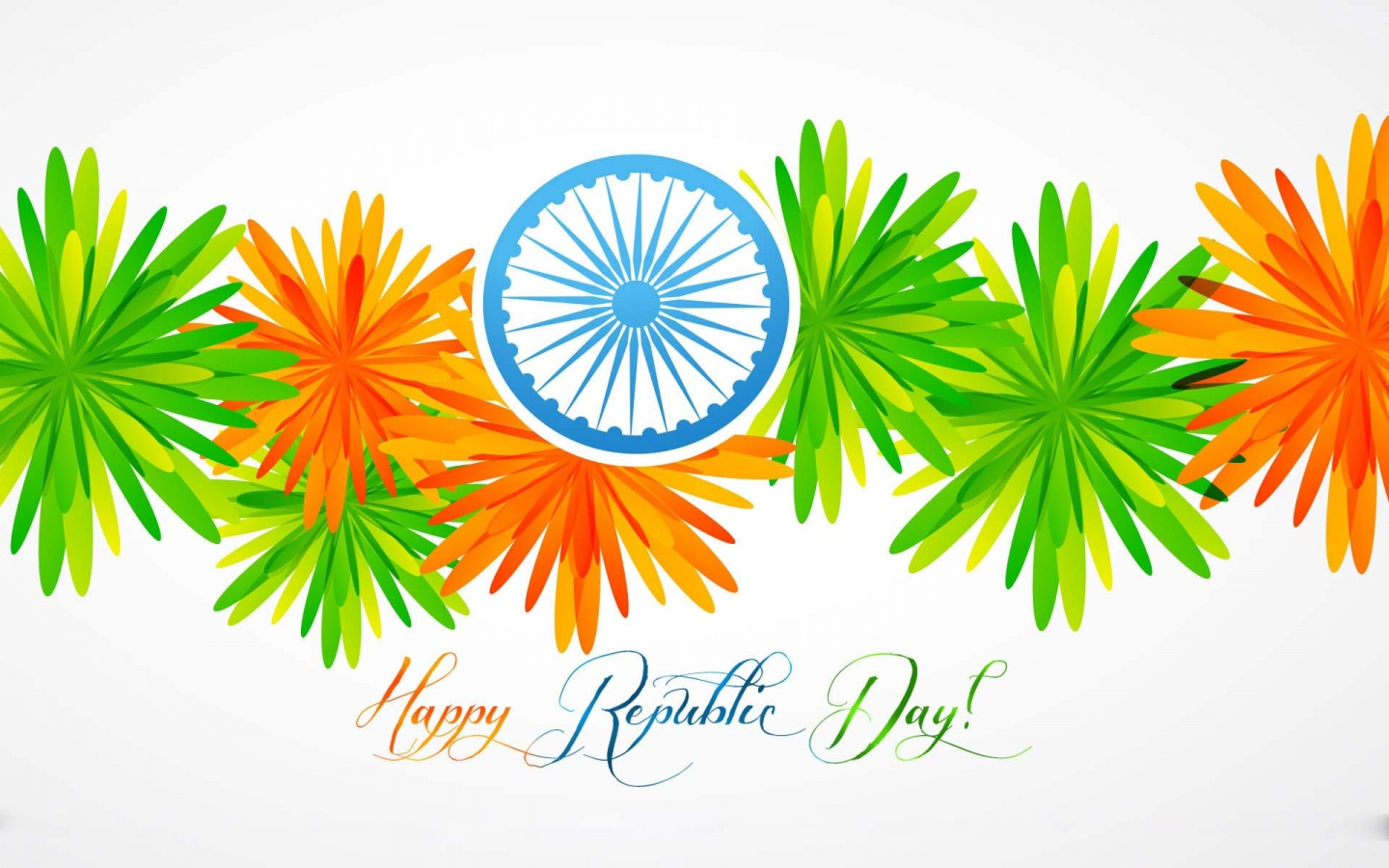 Colourful Republic Day Flowers