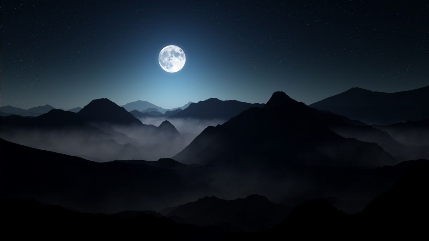 Dark Mountains Full Moon