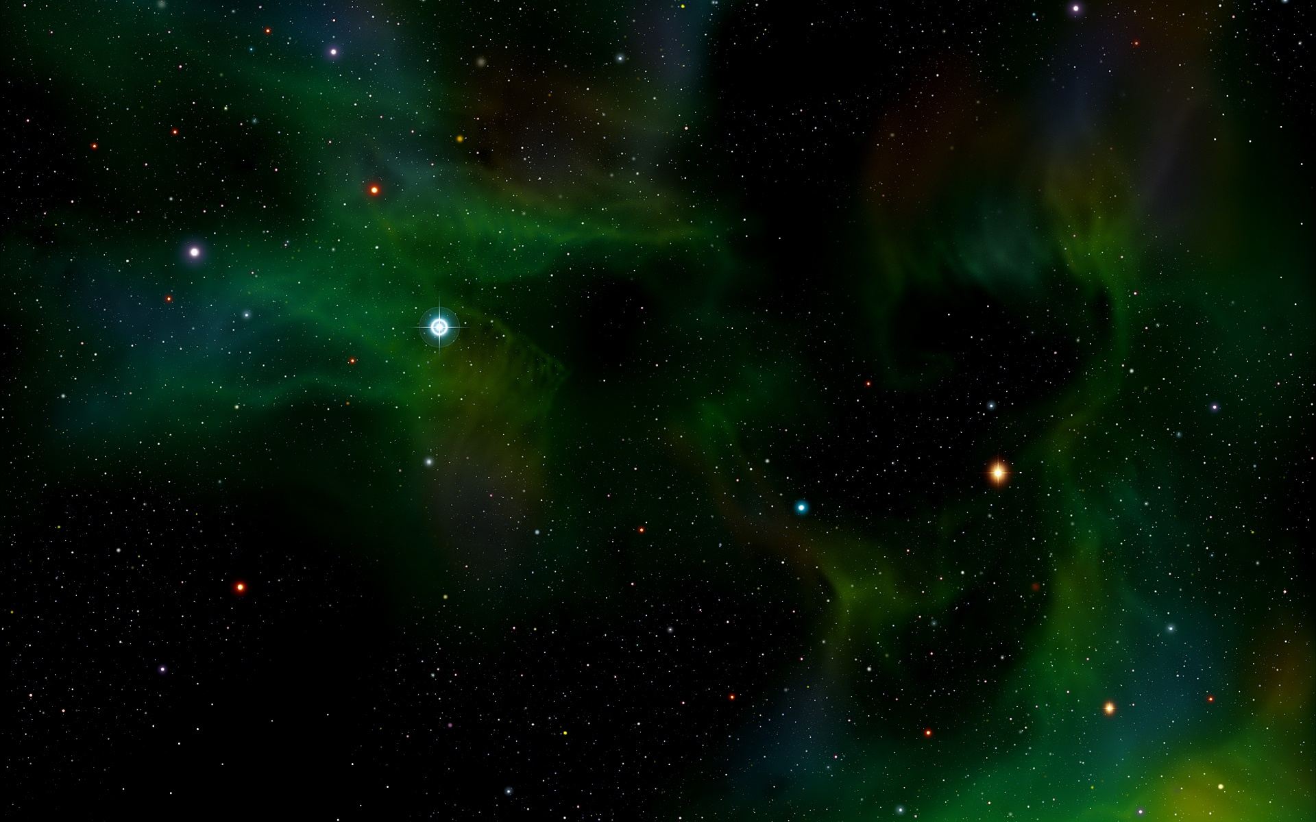 Darkness Green Space Wallpapers - 1920x1200 - 601271