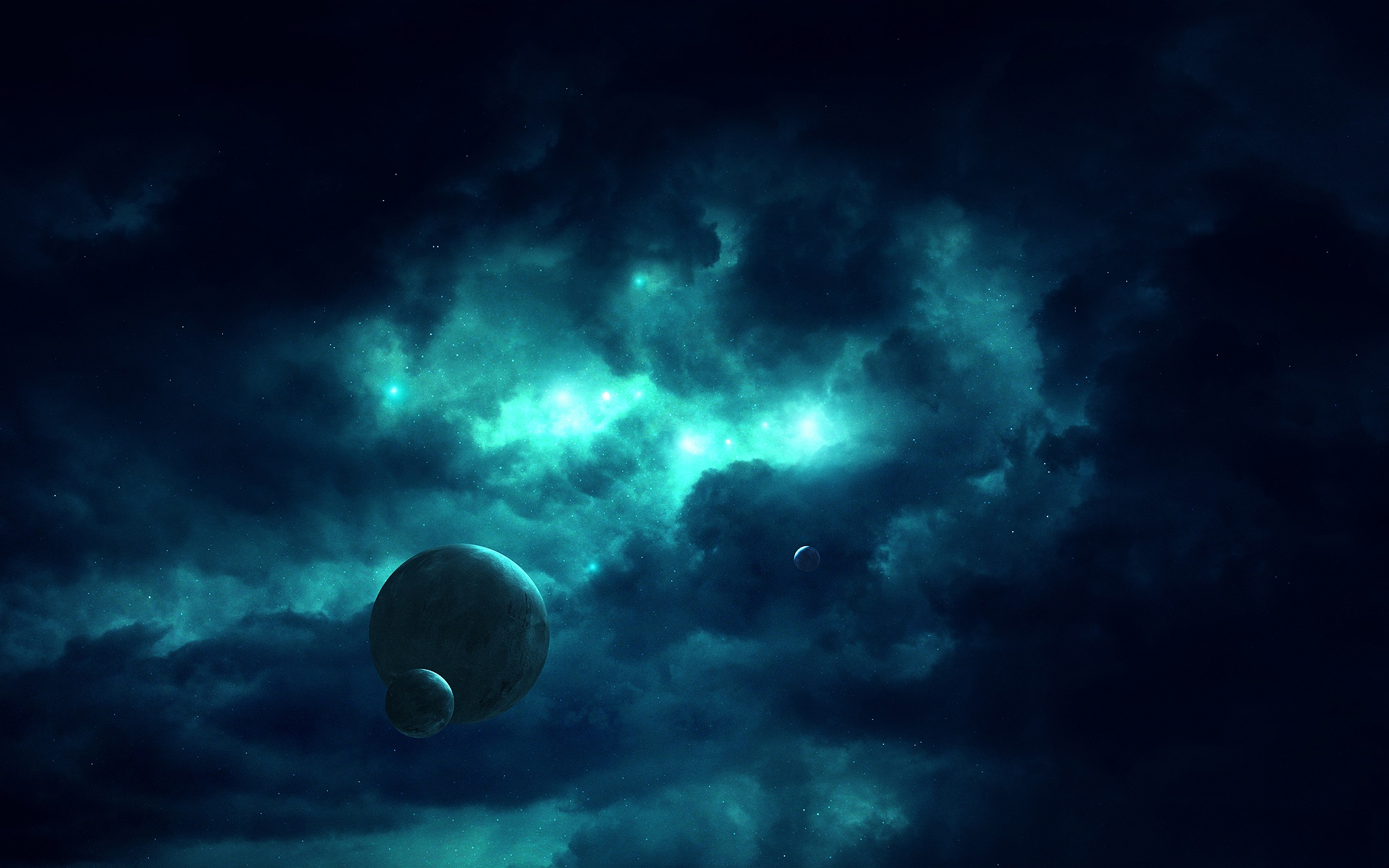 Darkness Space In Stars Wallpapers - 1920x1200 - 525885