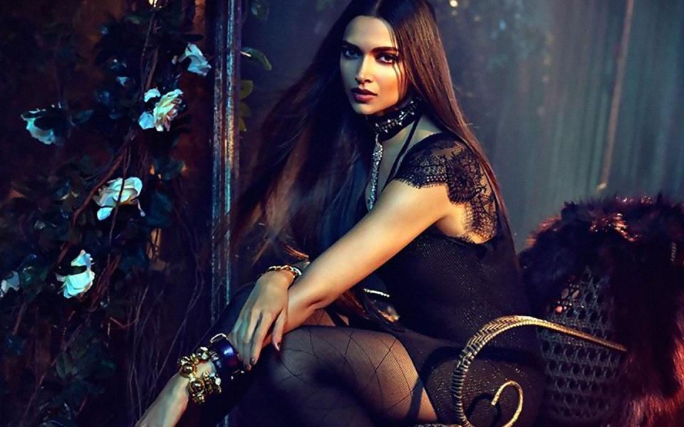 Deepika In Black Attire