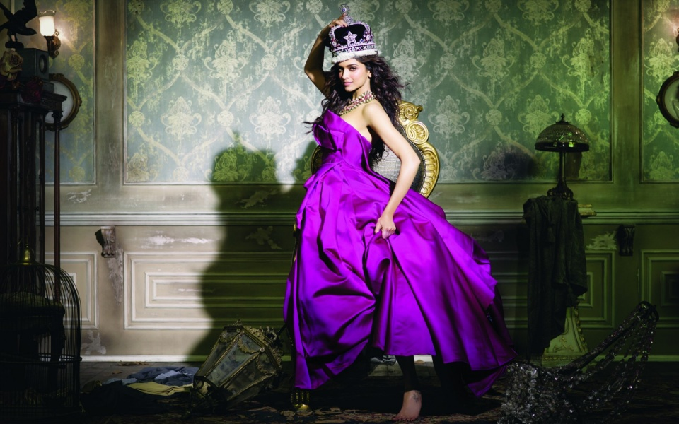 Deepika Padukone In Purple Dress