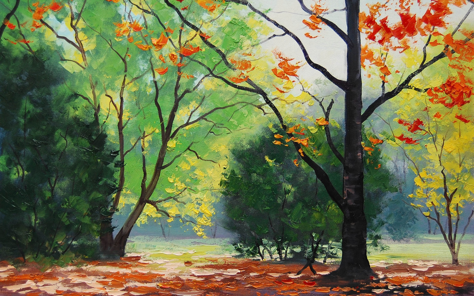 Autumn Trees Drawing wallpaper - 765094