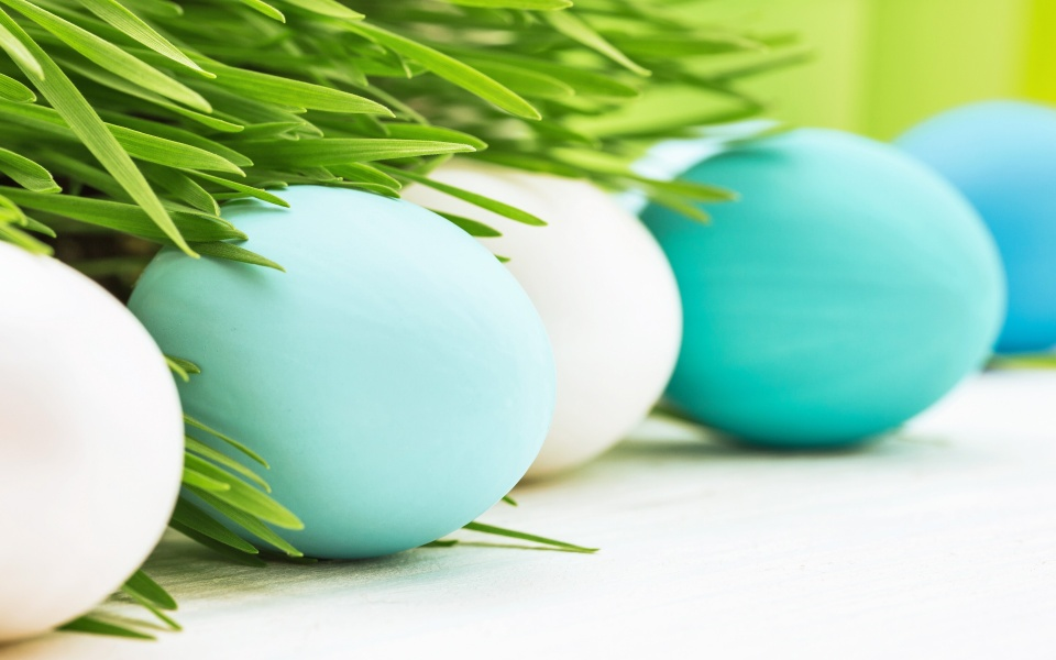 Easter Eggs Decoration Spring Flowers
