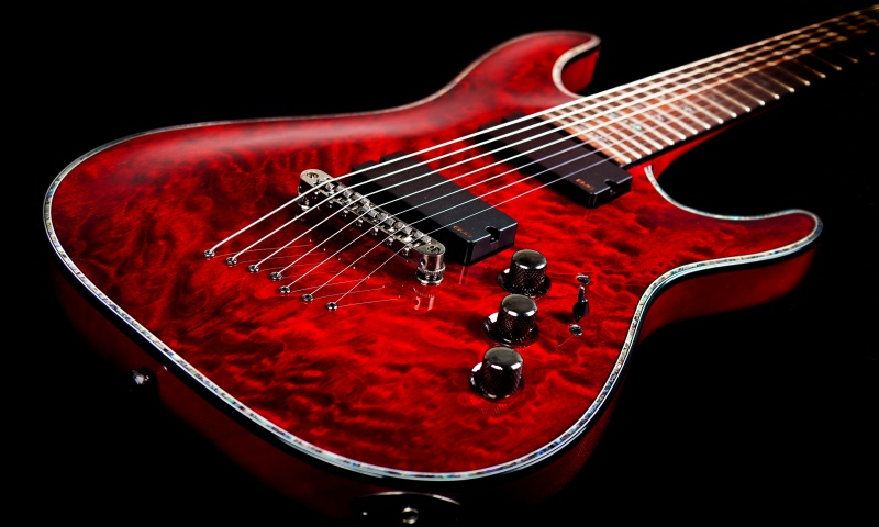 Electronic Guitar Music Background