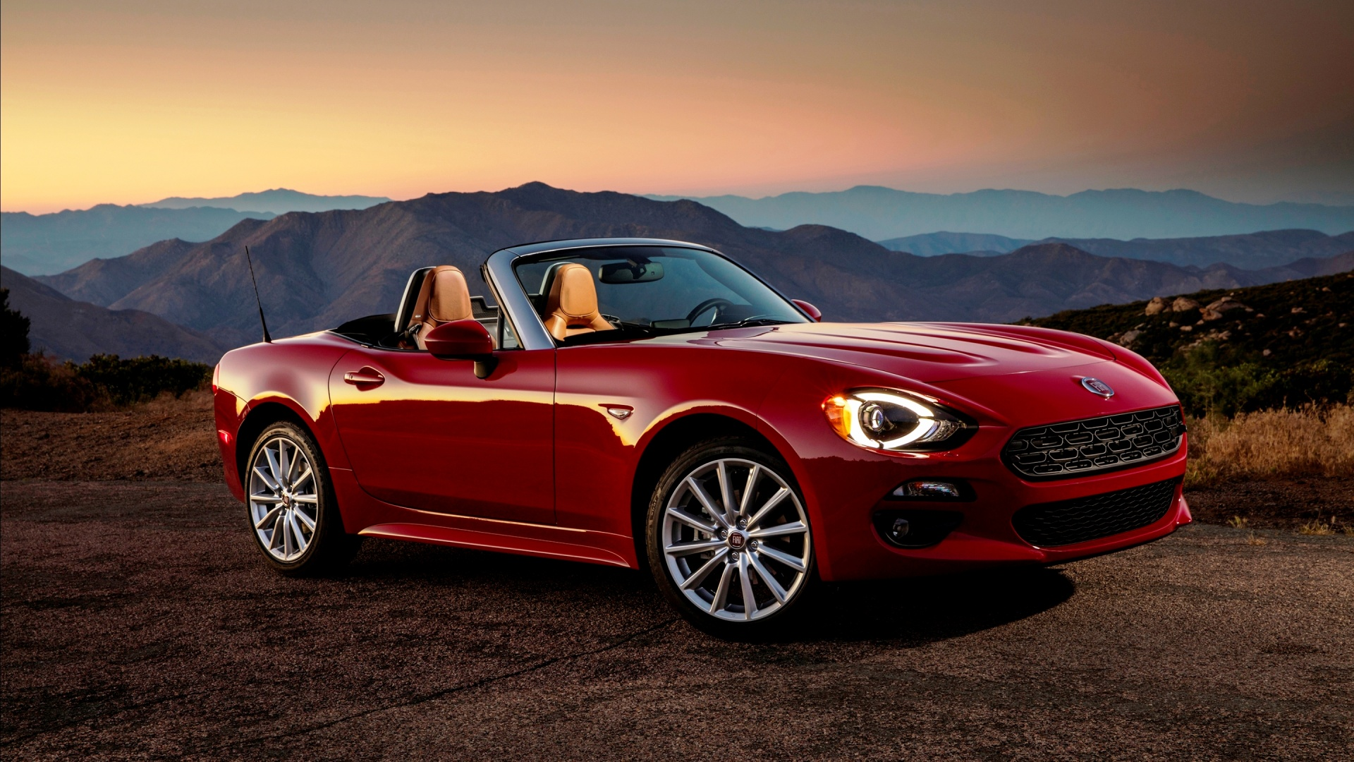 fiat 124 spider lusso front 2017 wallpapers 1920x1080. Black Bedroom Furniture Sets. Home Design Ideas