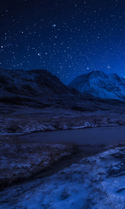 France Mountains Alps Night Stars