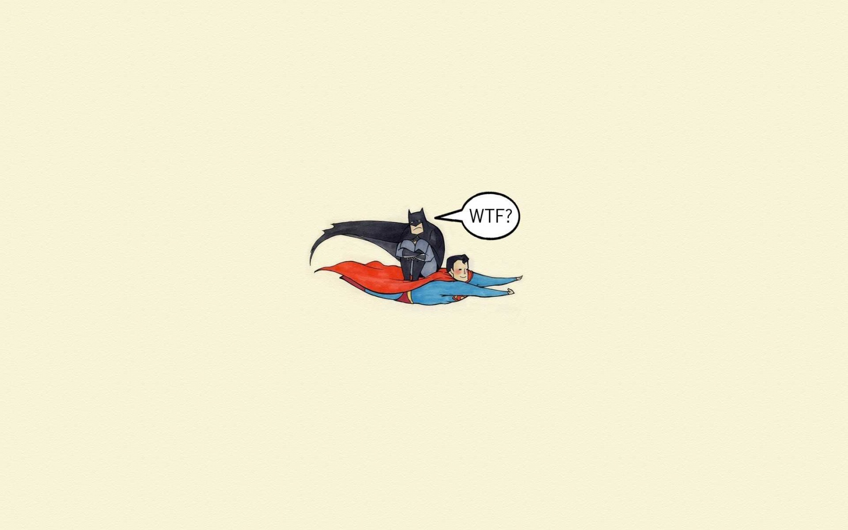 Funny Batman And Superman