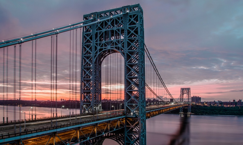 George Washington Bridge At Twilight