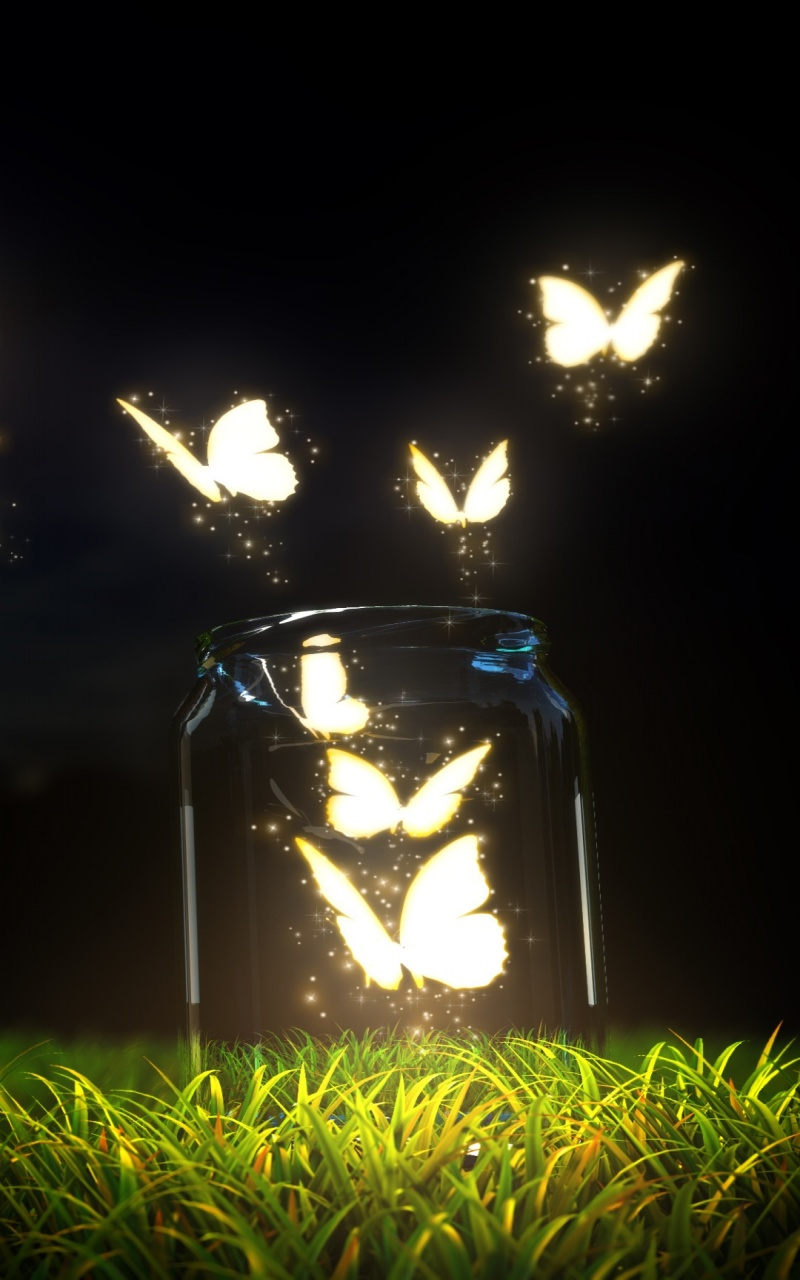 Glowing Butterflies